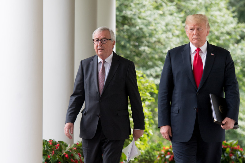 Visit of Jean-Claude Juncker, President of the EC accompanied by Cecilia Malmström, Member of the EC to the United States of America
